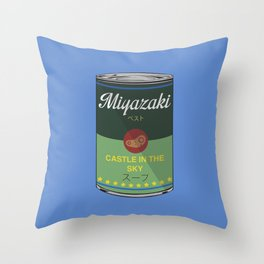 Castle in the sky - Miyazaki - Special Soup Series  Throw Pillow