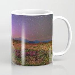 Sunset with Starry Sky Fantasy Landscape Coffee Mug