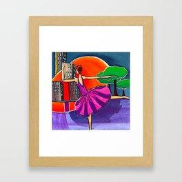 Dreams of the big city remix 2 Framed Art Print