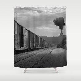 Nuke Train Shower Curtain