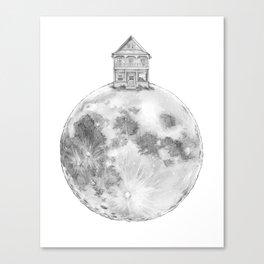 House on the Moon Canvas Print
