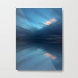 Blue Sky Abstract Metal Print