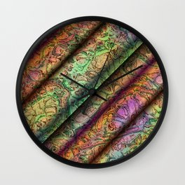 ART Deco Pattern, Colorful Fractal Art Wall Clock