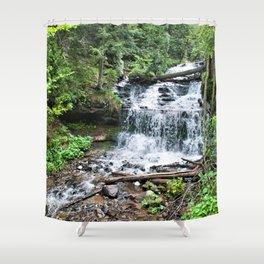 Wagner Falls, Munising, Michigan Shower Curtain