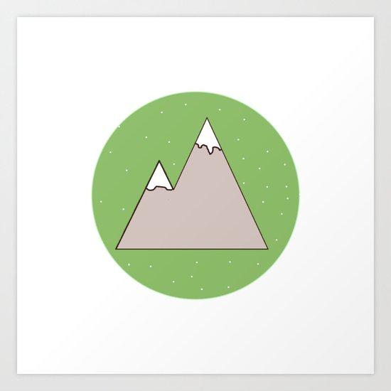 Green Mountain Art Print