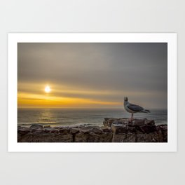 Just you, me and the Sunset Art Print