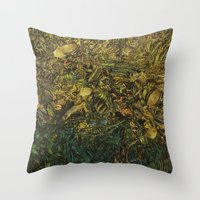 green arrow Throw Pillows featuring Green Arrow  by MelissaMoffatCollage