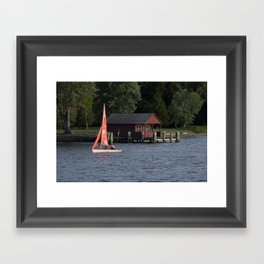 Boating on the Connecticut River Framed Art Print