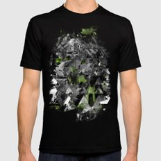 Abstractness Black MEDIUM Mens Fitted Tee