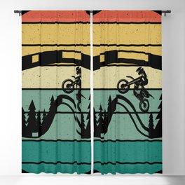 Retro Drive Motorcycle Rider Motocross Blackout Curtain