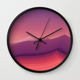 iso mountain evening Wall Clock