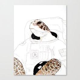 Astronaut Sea Turtle Canvas Print