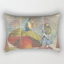Alice In Wonderland - The Hookah Smoking Caterpillar Rectangular Pillow