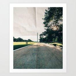 Washington DC Paper Art Print