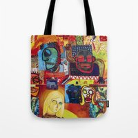 cartoon Tote Bags featuring Cartoon by Mira C