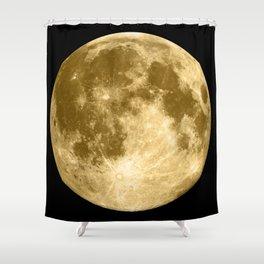 Golden Moonage Shower Curtain