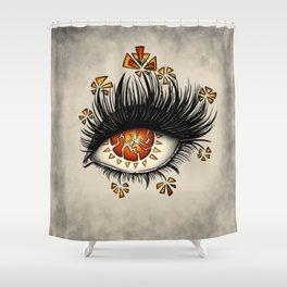 Weird Eye Of Fractured Lava | Digital Art Shower Curtain