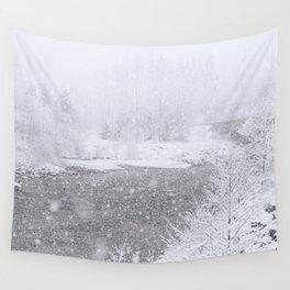 Light Snowfall Wall Tapestry