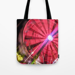 Spinning Your Wheels the ferris wheel carnival ride Tote Bag