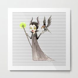 Maleficent and Diaval Metal Print