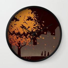 Halloween Tree Wall Clock