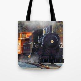 The Rail Yard  -  Steam Train Tote Bag