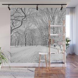 New York City Snow Wall Mural