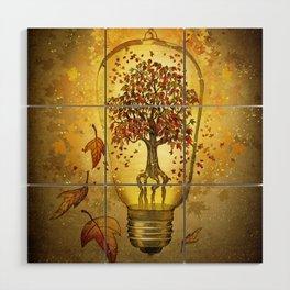 Autumn light Wood Wall Art