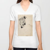 storm V-neck T-shirts featuring storm by Eszter Mezei