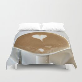 Hot Coffee Love Duvet Cover
