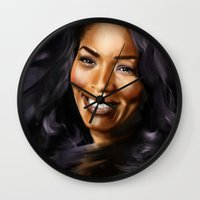 queen Wall Clocks featuring Queen by Lily Fitch