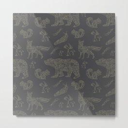 Shafted Woods Metal Print