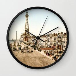 The Promenade at Blackpool, Lancashire, England 1898 Wall Clock