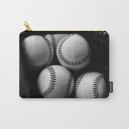 Black and White Pile of Baseballs Carry-All Pouch
