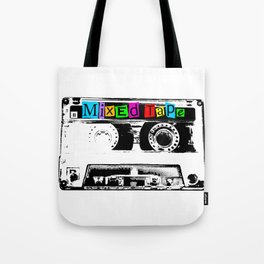 Mixed Tape Cassette Tote Bag