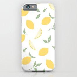 Fresh summer lemons. iPhone Case