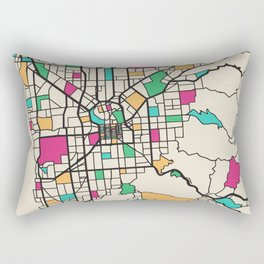 Colorful City Maps: Adelaide, South Australia Rectangular Pillow