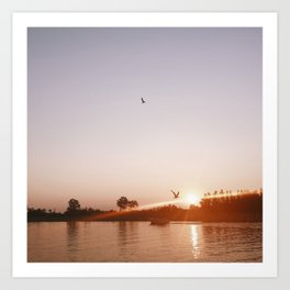 Sunset on the Channel Art Print