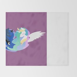 Princesses of Day and Night Throw Blanket
