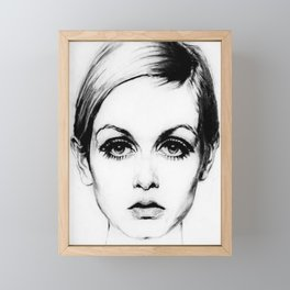 60's Eyelashes Framed Mini Art Print