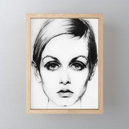 60's Eyelashes Framed Mini Art Print