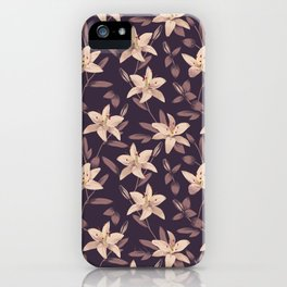 Lilies Pattern iPhone Case