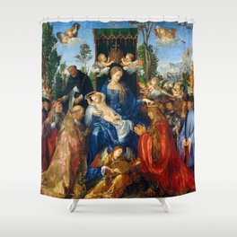 """Albrecht Dürer """"Feast of Rose Garlands"""" Shower Curtain"""