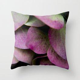 pink hydrangea I Throw Pillow