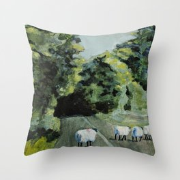 Connemara Sheep Throw Pillow