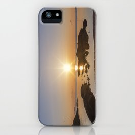 Sunset at Plum Cove Beach iPhone Case