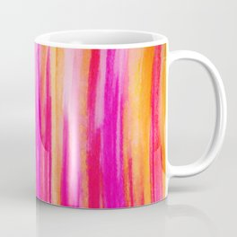 Welcome to Funky Town - Disco Inferno Dance Party Bold Rainbow Stripes Abstract Watercolor Painting Coffee Mug