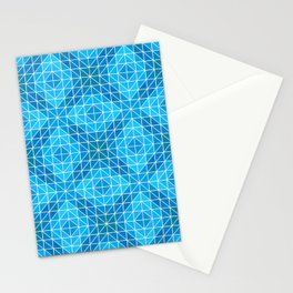 Design of Light Cyan Mosaic Artwork. Stationery Cards