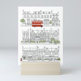 London houses Mini Art Print
