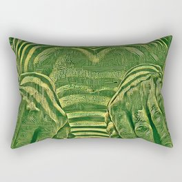 1276s-AK_3129 Aroused Motherboard Style Nude Woman Rectangular Pillow